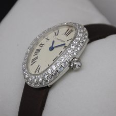 Cartier Baignoire swiss diamond watch for women stainless steel